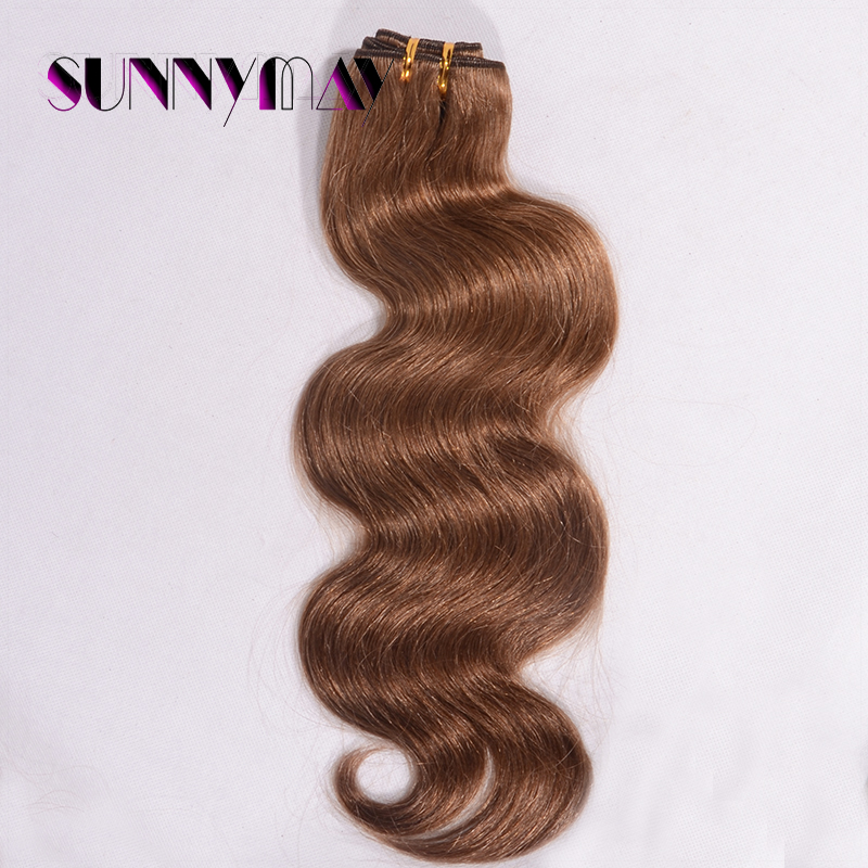 #6 Color Sunnymay Body Wave Brazilian Virgin Hair Weaving 8A Grade Hair Extension Top Quality Hair Weft