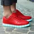 Дешевые Высокого Качества 2017 Новая Мода Led Обувь Для Взрослых Случайный USB Зарядки корзины neon Led Светящиеся Огни Мужская Обувь