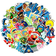 50pcs/lot Sesame Street Scrapbooking Stickers /Decorative Sticker /DIY Craft Photo Albums Kids Birthday Present Party Favor