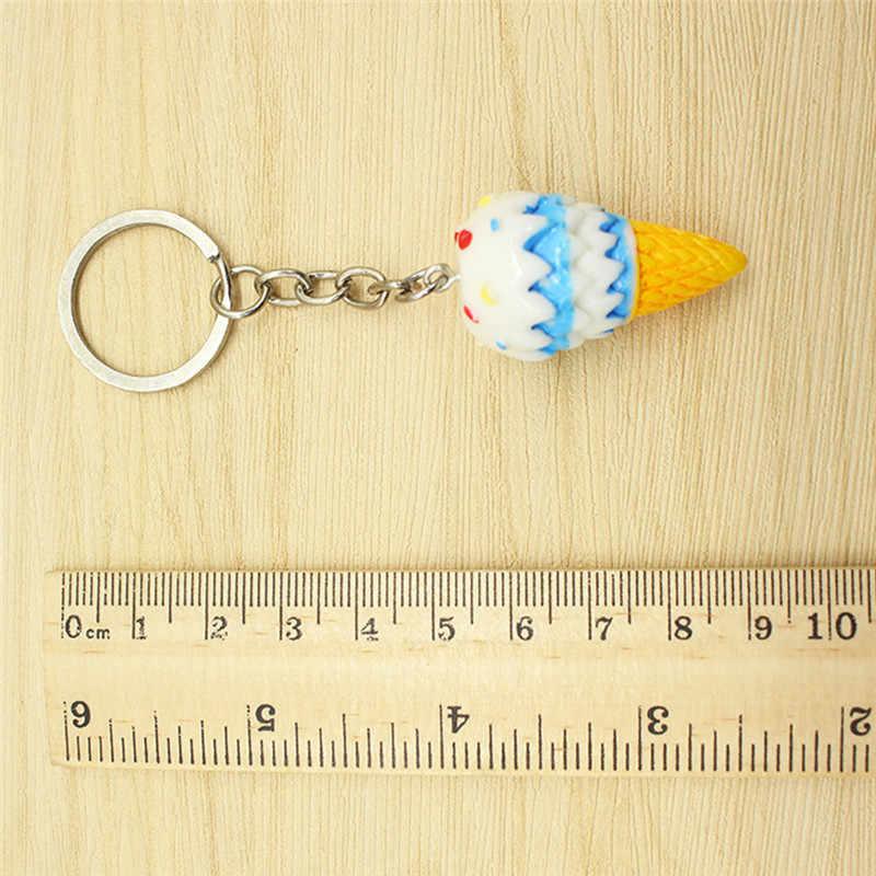 1 قطعة عشوائي اللون الأزياء حقيبة قلادة مفتاح حلقة سحر حزام الآيس كريم الهاتف المحمول المفاتيح
