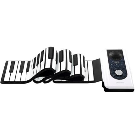 88 клавиш Roll Up Piano MIDI клавиатура Эльсой фортепиано для начинающих для детей и взрослых с мешком