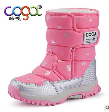 High Quality Children Boots 2016 New Girls Boots Boys Waterproof Non-slip Snow Boots Kids Winter Booties Size 26-38 WSP001