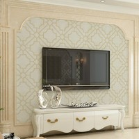 Modern Contemporary Beige Geometric Textured Vinyl Waterproof Wallpaper For Bathroom Wall Covering