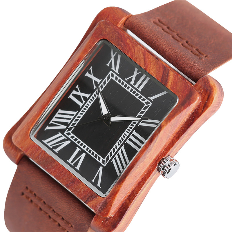Stylish Wooden Watches for Men and Women Couple Lover's Gift Quartz Watch Fashion Nature Wood Bamboo Real Leather Band Relogio yisuya fashion nature wood wrist watch men analog sport bamboo black genuine leather band strap for men women gift relogio clock page 5