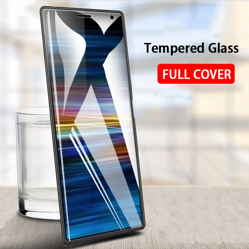 9H HD Full Cover Tempered Glass For Sony Xperia 10 Plus Screen Protector Protective Glas On The Xperia 10 10plus Xperia10 Film