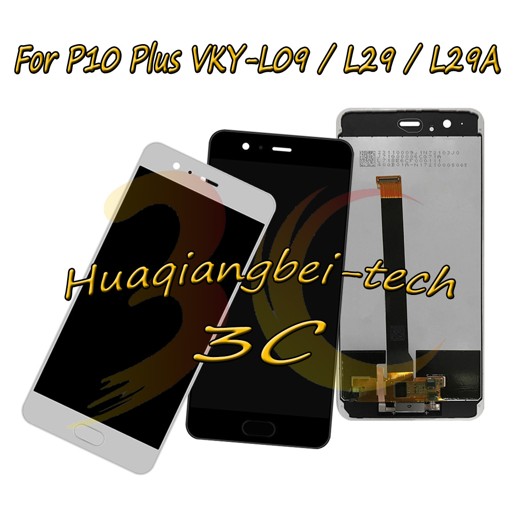 New 5.5 For Huawei P10 Plus VKY-L09 VKY-L29 VKY-L29A LCD DIsplay + Touch Screen Digitizer Assembly + Frame Cover 100% TestedNew 5.5 For Huawei P10 Plus VKY-L09 VKY-L29 VKY-L29A LCD DIsplay + Touch Screen Digitizer Assembly + Frame Cover 100% Tested