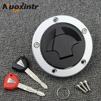 New With Key Fit Locking Motorcycles Fuel Door Cover Auto Gas Tank Cap Cover Lock For Kawasaki ZZR1400 ZX1400 ZX14R 06 15