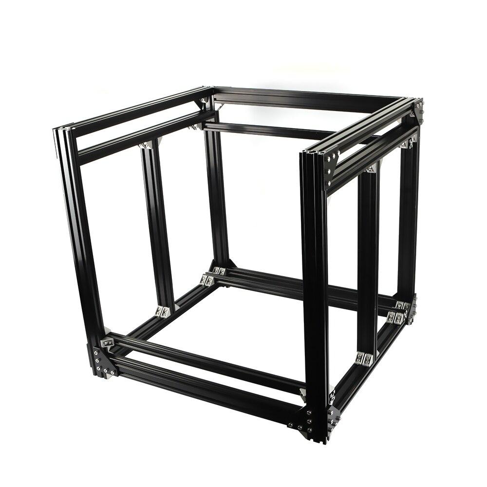 Aluminium noir 2040 profilé Extrusion BLV mgn Cube cadre kit pour bricolage CR10 3D imprimante Z hauteur 365 MM