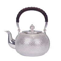 Pure silver teapot handmade kettle Japanese silver teapot tea set 1000ML