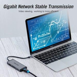 Image 4 - Vention Usb רכזת סוג C כדי HDMI USB 3.0 רכזת Thunderbolt 3 מתאם עבור MacBook סמסונג S10 Huawei Mate 20 p30 פרו אפל USB C רכזת