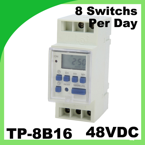 Street light timer JF-15B / TP-8B16 DC 48V Din Rail Weekly Programmable Remote microcomputer control switch