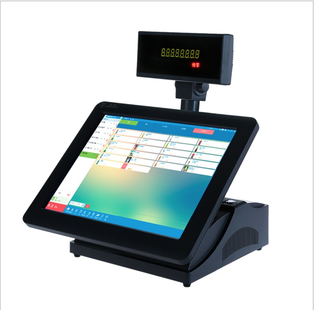 15 Inch Restaurant Touch Screen Pos System With Pos Software
