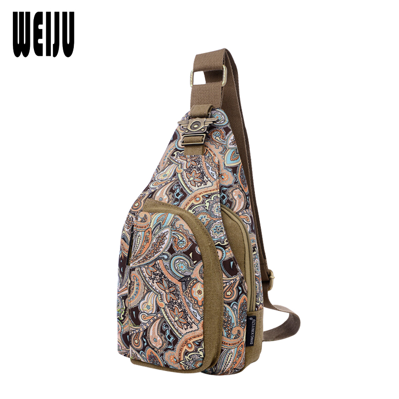 WEIJU New Women Chest Bags Bolsos Mujer 2016 Casual Crossbody Bag Women Small Canvas Woman Shoulder Sling Pack