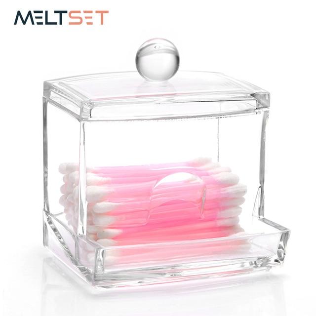 Acrylic Cotton Swab Organizer Storage Box Q Tip Storage Holder Container  Clear Makeup Cosmetic Swab