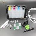Luxo 4 color kit com acessórios tanque de tinta ciss para hp 21,22 60 61 56 57 74 75 901 121 122 140 141 300 301 PG40 50 830 impressora