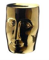 Jingdezhen Golden Glazed Ceramic Porcelain Garden Face Stool