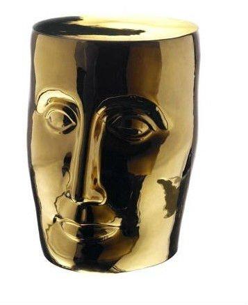 Jingdezhen ouro cerâmica vidrada porcelana jardim rosto Stool