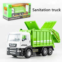 KIDAMI 1:50 Engineering vehicle Pull Back Diecast Car Model Toy with sound light Gift toys for children