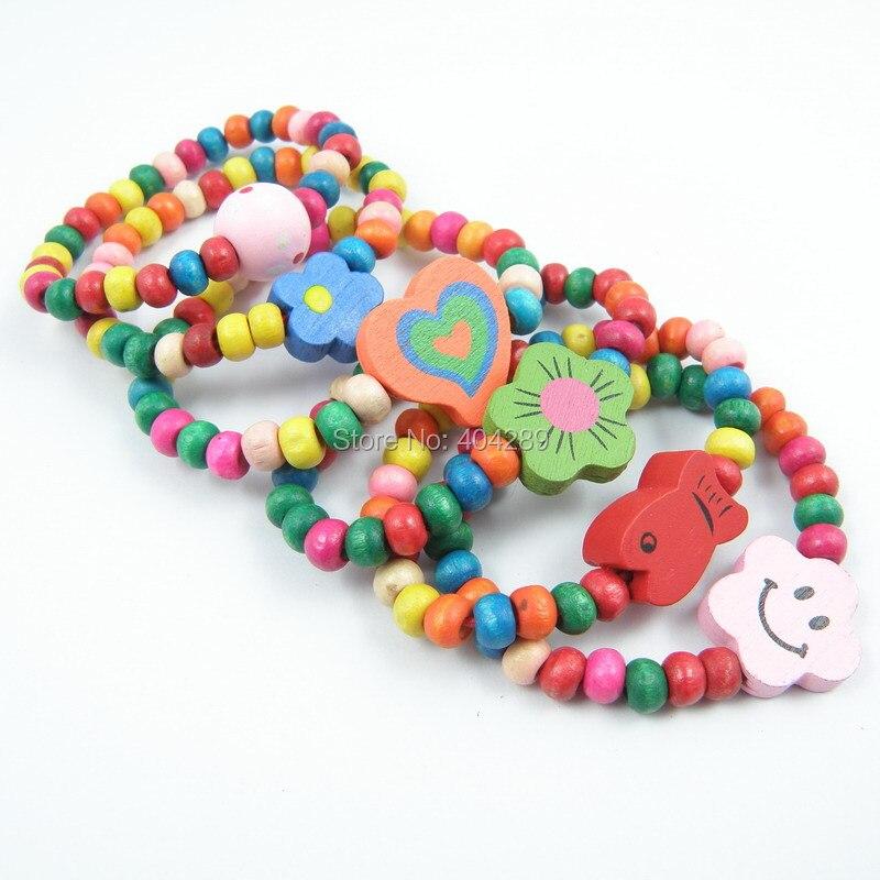 12Pcs Children Elastic Bracelet Kids Girs