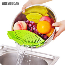 Areyoucan Silicone Pot Strainers Liquid Funnel Baking Batter Deflector Anti-spill Drain Pans Kitchen Cooking Tool