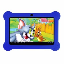 Yuntab New arrival 7 inch Tablet PC Q88 Android 4.4 Dual Camera Touch Screen1024 x 600 with Silicone Case (purple)