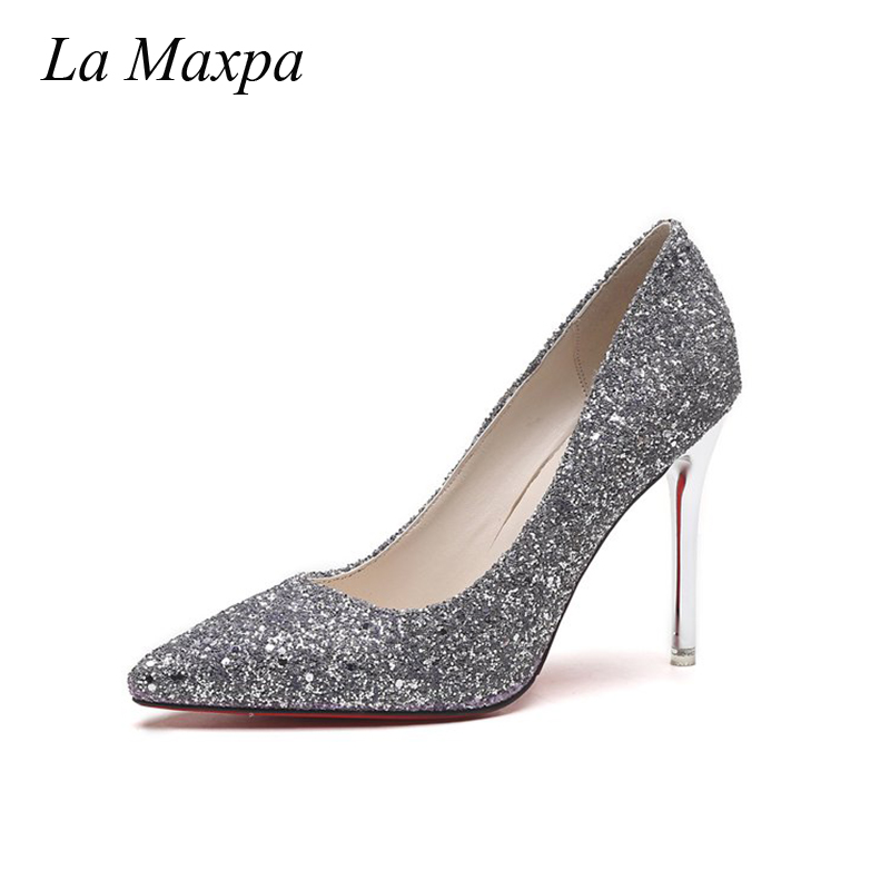Bling Haute Sandales khaki Mode Nouveau Maxpa De La blue Pompes Talons Femme 2018 Femmes Nu Sexy Gray Mujer Zapatos Mariage Pantoufle Chaussures 0RwqawP8