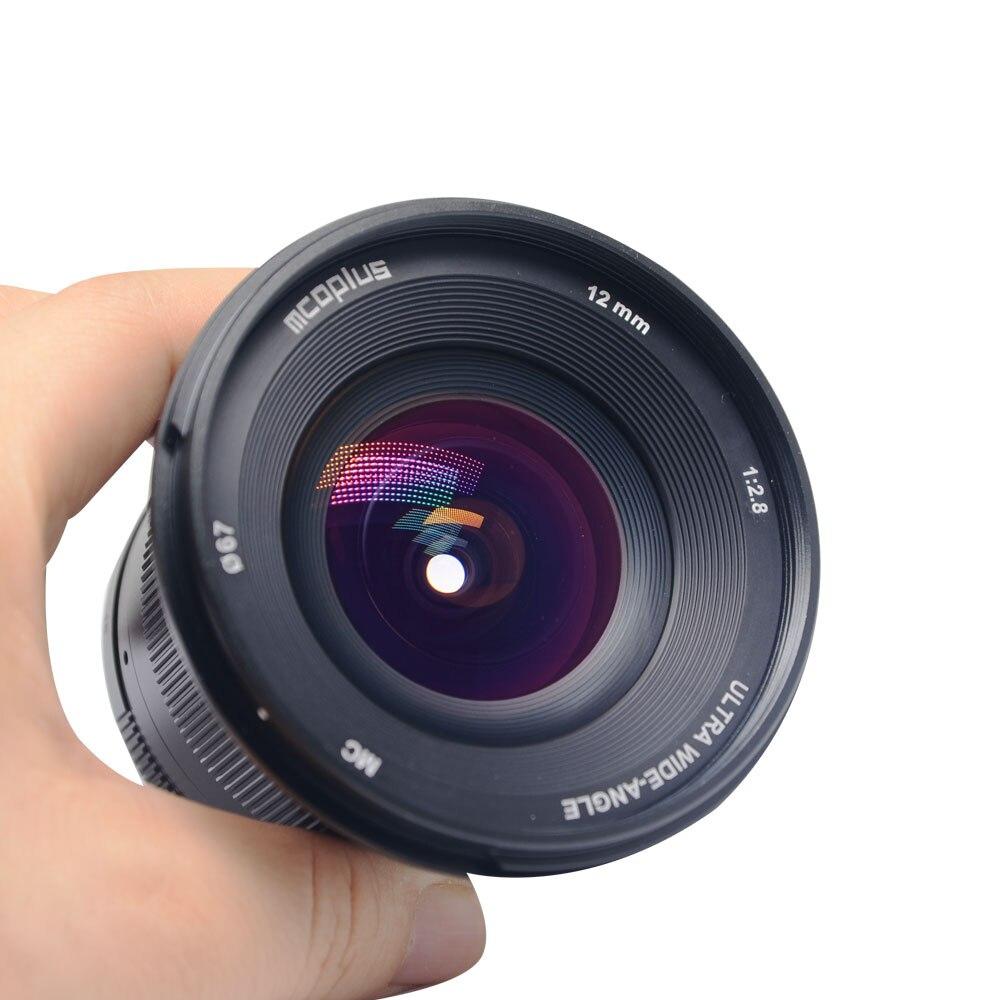 Mcoplus 12mm f/2.8 manuel Ultra grand Angle objectif APS-C pour Canon EOS EF-M monture appareil photo sans miroir EOS M EOS M2 EOS M10 EOS M3