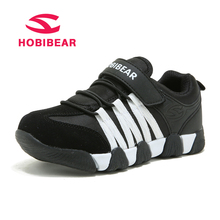 HOBIBEAR Children Shoes Kids Sneakers For Boys Sport Genuine Leather Casual Shoes Student School Shoes For Boys Running Sneakers