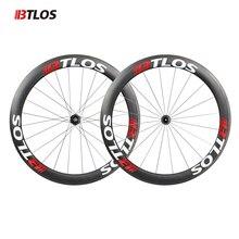 цена на Ultra-light btlos WRC-50 Carbon Wheels 700C 50mm Clincher 26mm Width special braking Powerway R13  Road Bike Wheelset