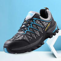 Men Air Mesh Breathable Steel Toe Safety Shoes Light Weight Work Boots Slip Resistance Protective Footwear