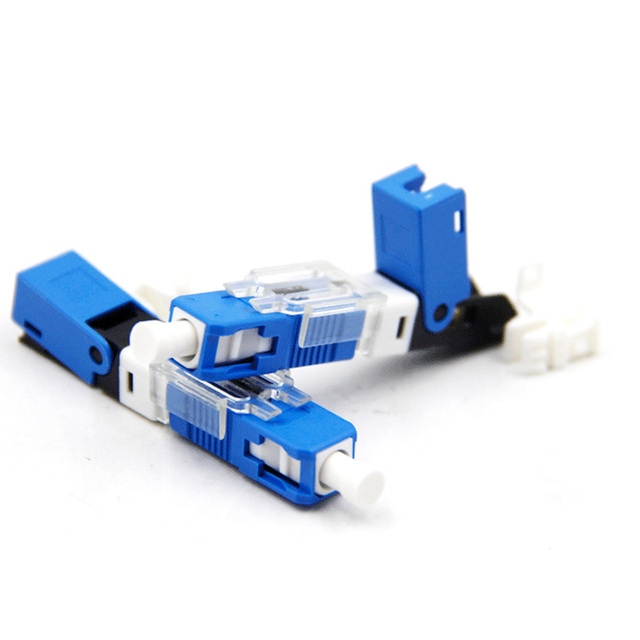100PCS FTTH SC UPC Optical fibe quick connector SC PC FTTH Fiber Optic Fast Connector Embedded type ESC250D SC Connector