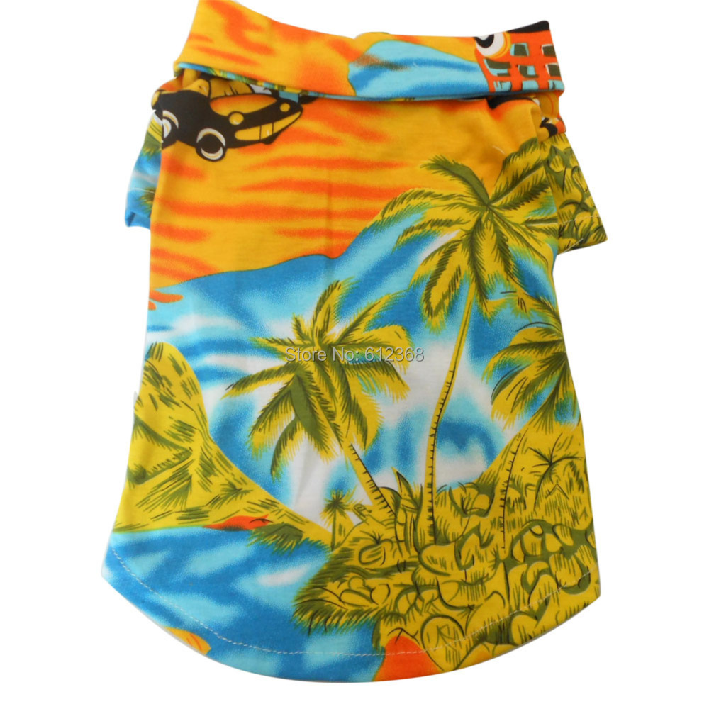 Tangpan Camisa Ropa Ropa Ropa Perro Mascota Del Verano Hawaiian Beach Camp,Amarillo(China