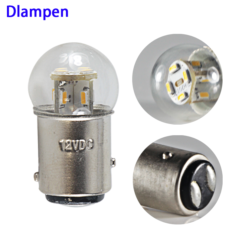 Lampade Led Turn Signal Light 1157 BAY15D 6V 12V 24V 36V 48V  Brake Bulb 1.5W Error Free Auto Tail Brake Stop Reverse Lamp