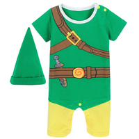 Baby Boys Zelda Link Costume Romper Infant Cosplay Playsuits Short Sleeve Toddler One Pieces For Boy