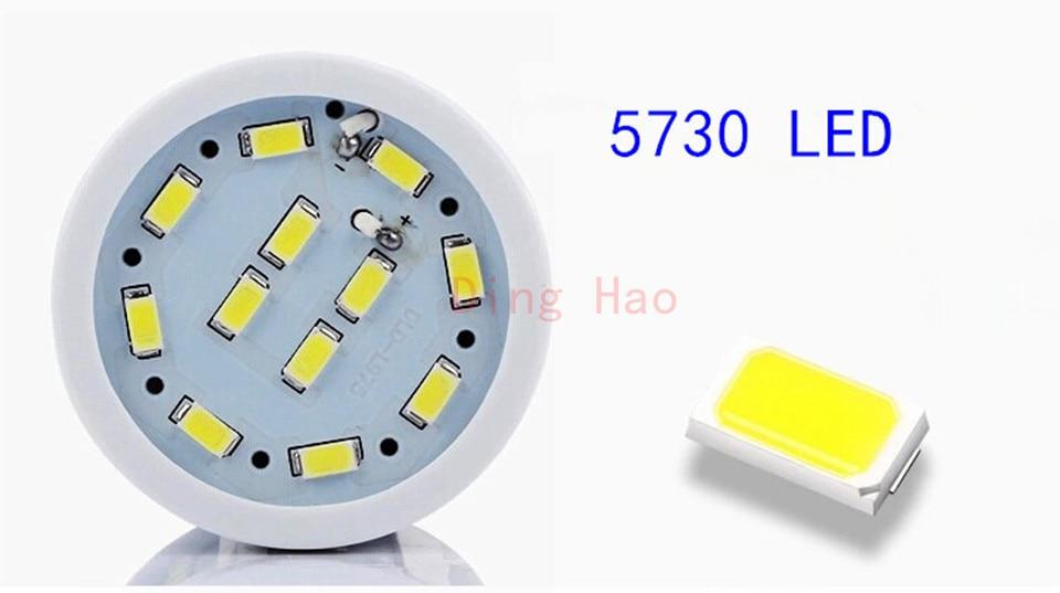 D50 5730 98 светодиодный 30 Вт E27 E14 E26 B22 85-265 В AC светодиодный лампы холодный белый теплый белый светодиодный мозоли Светодиодный лампа комплект из 5 предметов