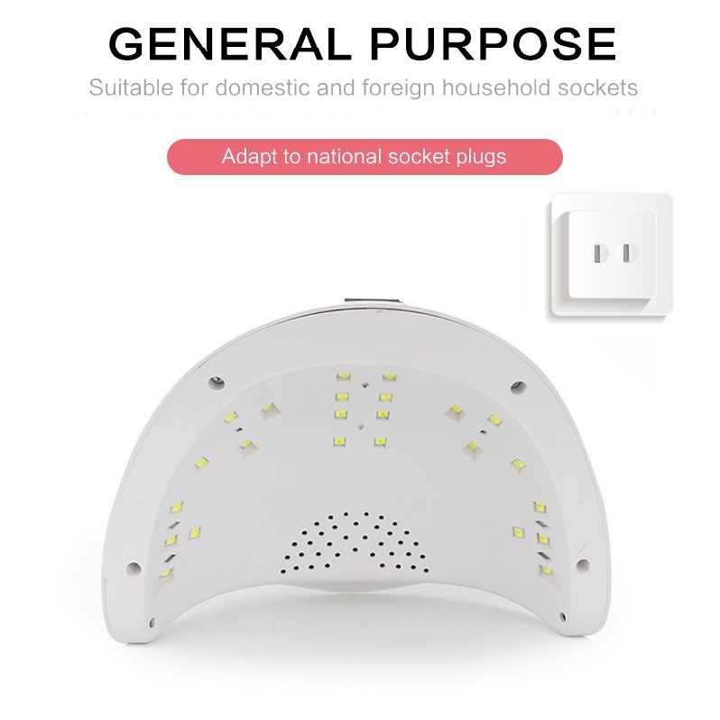 SUN5PLUS машинка для стрижки 48 Вт Светодиодный УФ-гель для ногтей лампы для отверждения светодиодный Сушилка для ногтей с умным Сенсор с 10/30/60s Установка таймера ЖК-дисплей Дисплей сенсорная кнопка