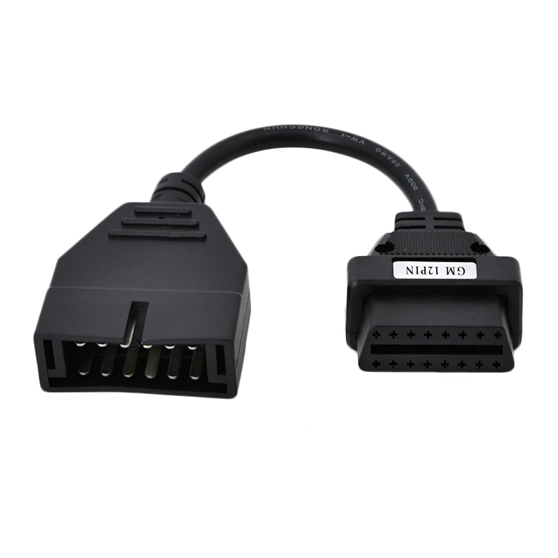 OBD/OBD2 Connector for GM 12 pin Adapter to 16Pin car Diagnostic tool Cable vehicle cable for gm 12pin car cable OBD2 cable