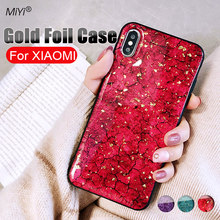 Marble Gold foil Phone Case for xiaomi mi 8 a2 lite 6 6x cases Soft Silicone TPU Cover mix2 mix2s mix3 max3 max2 mi8 coque funda(China)