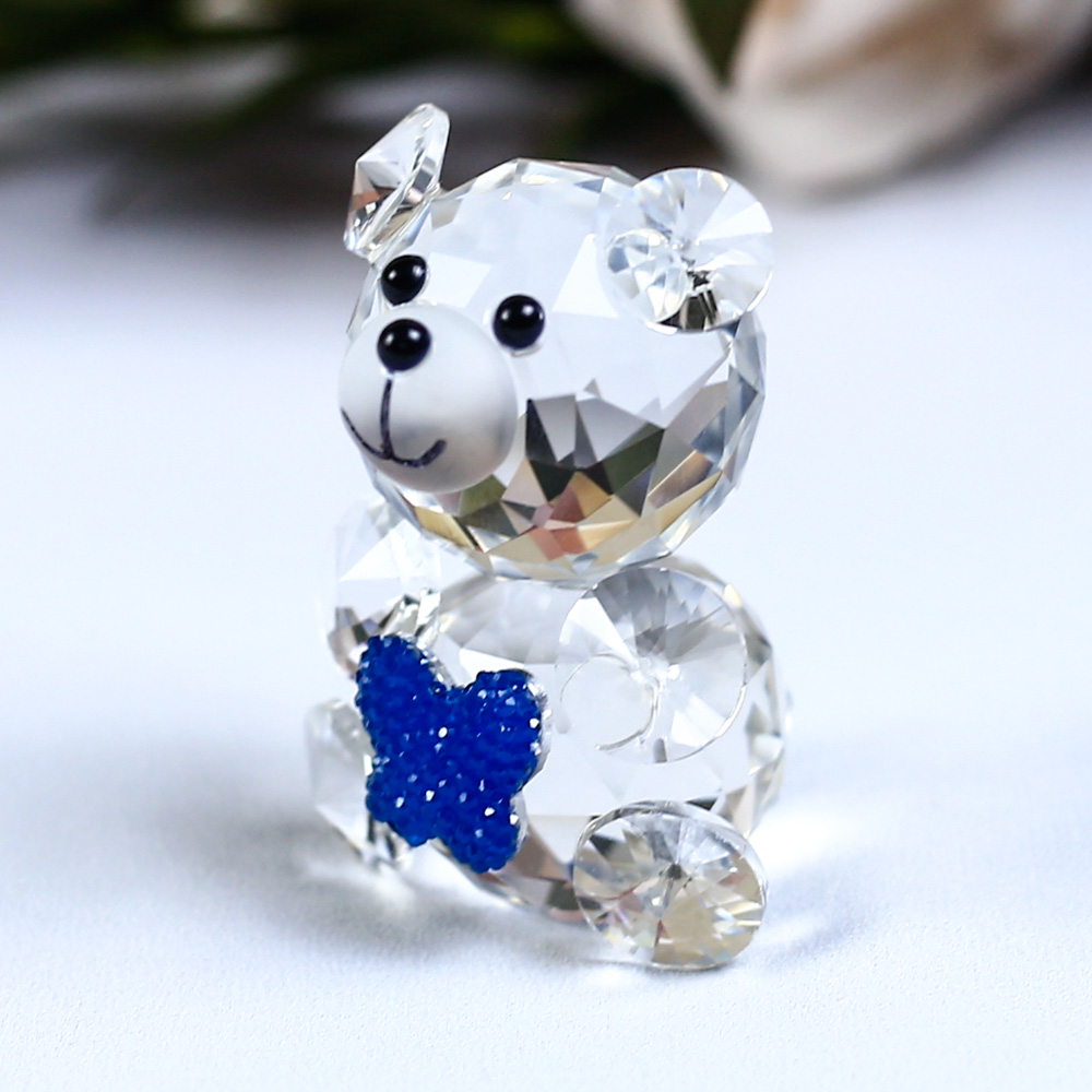 Mariposa linda Oso decorativo Figuritas de cristal Miniaturas - Decoración del hogar - foto 3