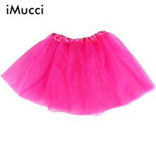 iMucci 1 Piece Solid Color Baby Girl Adult Women Ballet Tutus 3 Layers Puffy Skirts Tulle Tutu Skirt Dancing Pettiskirts