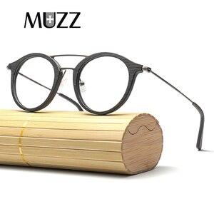 Image 4 - High Quality Men Myopia Wood Eyewear myopia glasses frame retro frame female frame male with myopia glasses