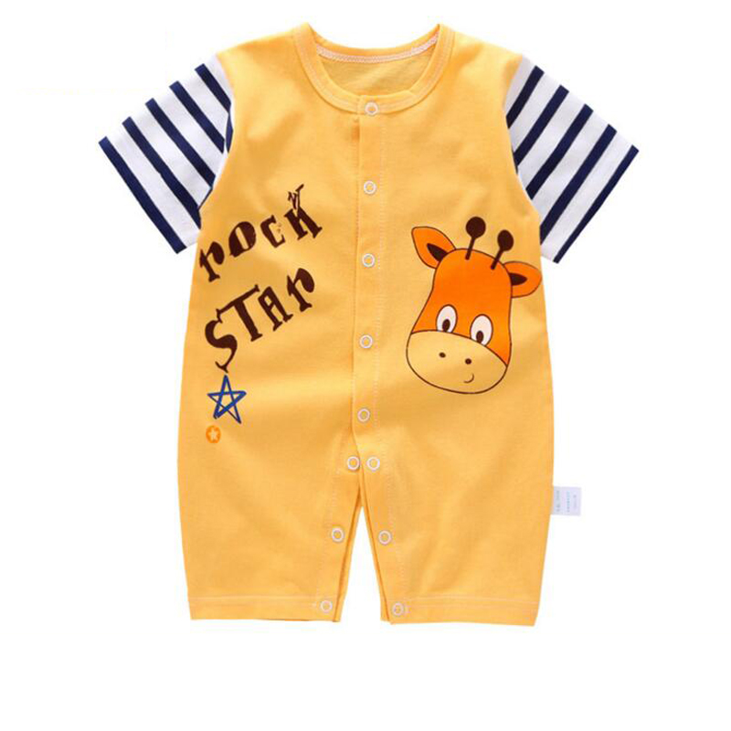 Summer Baby Clothing Romper Girl Newborn Clothes short Sleeve Jumpsuits Infant Baby Rompers for Boy 0-12 months цена