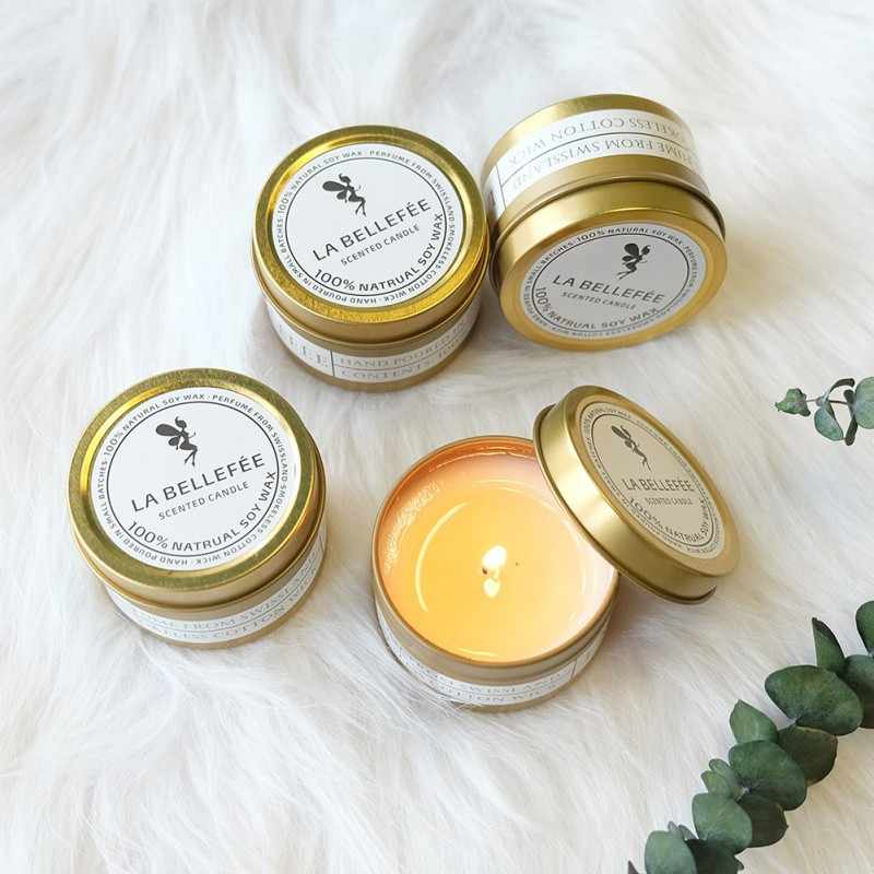 Aromatherapy Smokeless For Bedroom Candles Holders Candle Natural Soy Wax Imported Essential Oil Plant Wax