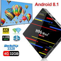 Android 8.1 smart tv box H96 MAX 4 gb di ram 32 gb di rom Media Player Quad Core 4 k HDR10 USB 3.0 H.265 decoder WiFi 2.4g set t