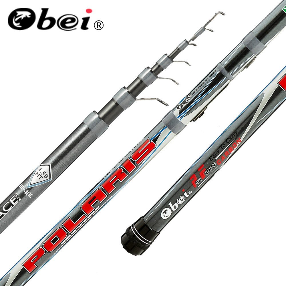 obei polaris Telescopic Portable Bolo Fishing Rod 3.8-6.0m Travel Ultra Light Spinning Casting float fishing 10-40G pole