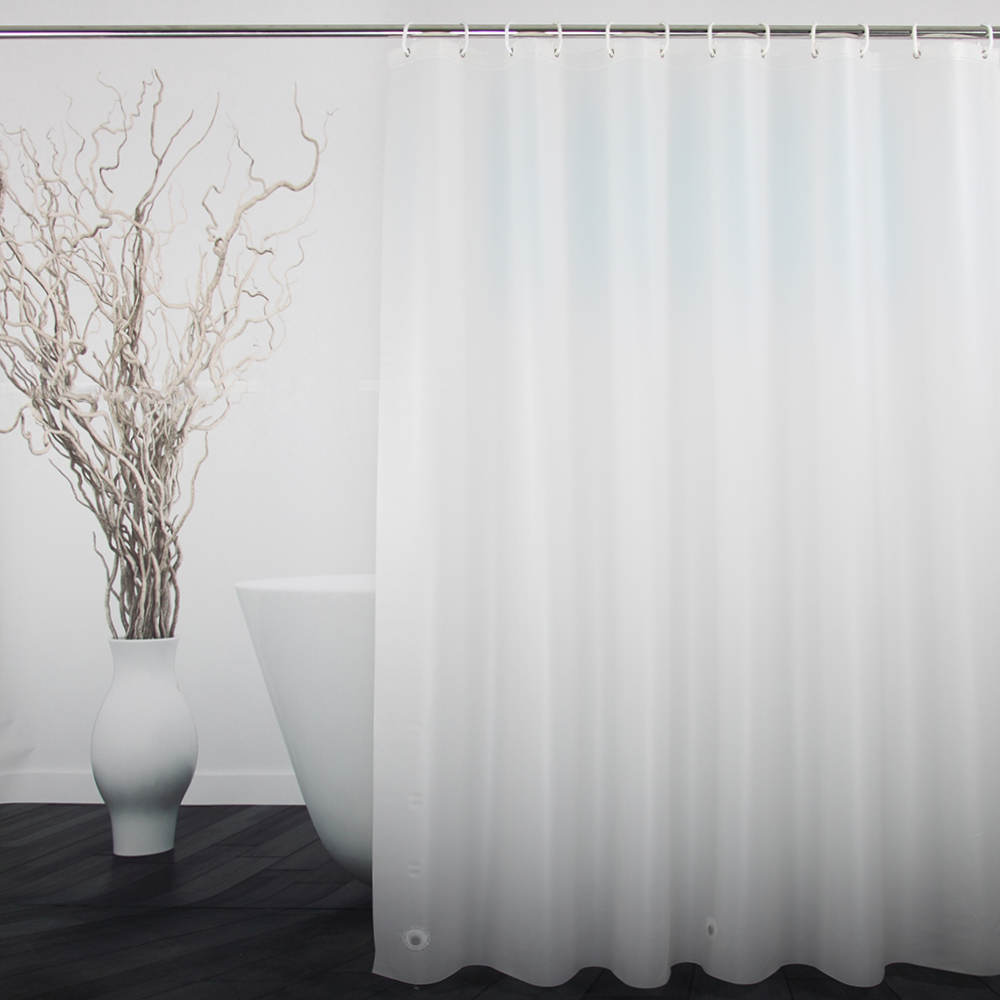 UFRIDAY PEVA Translucent Shower Curtain for Bathroom Eco Friendly ...
