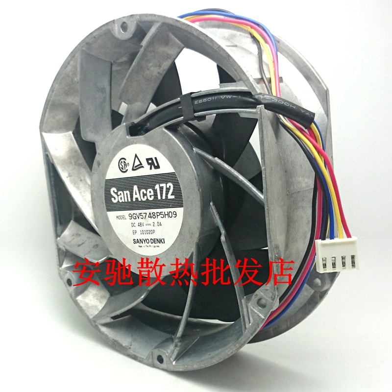 2019 Sanyo Denki 9GV5748P5H09 Server Round Fan DC 48V 2 0A 170x150x50mm 4  Wire From Nimoci, &Price