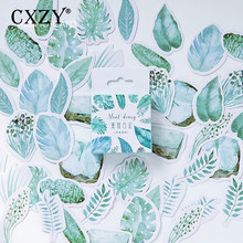 CXZY Cute Plant Leaves Mini sticker scrapbooking pack DIY paper label diary bullet journal stationery travel korea post 1T802(China)