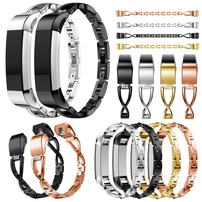 Carprie New Replacement Small Metal Crystal Watch Band Wrist strap For Fitbit Alta HR/Alta 18Apr19 Drop Ship F