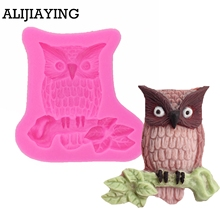 M0100 Owl Christmas cake silicone tools Fondant Cake Silicone Molds Chocolate Fimo Clay Candy